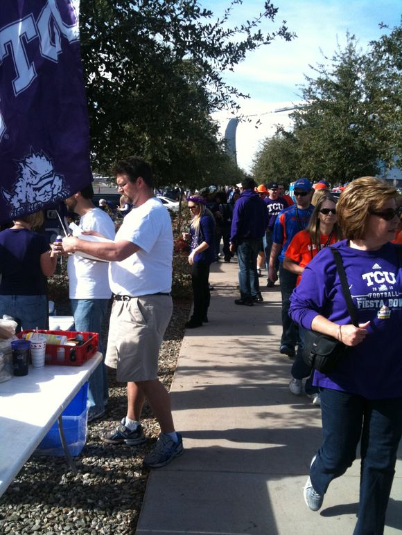 The party has begun for TCU